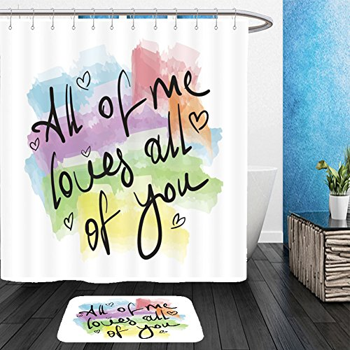 Ebay Joker Costume (Vanfan Bathroom 2?Suits 1 Shower Curtains & ?1 Floor Mats all of me loves all of you romantic love quote note as greeting card postcard poster sticker 304172153 From Bath room)