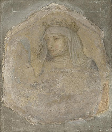 oil-painting-workshop-of-pietro-lorenzetti-a-crowned-female-figure-saint-elizabeth-of-hungary-16-x-1