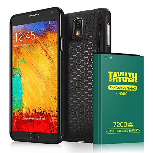 TAYUZH Note 3 Battery | 7200mAh Li-ion Replacement Extended Battery & Back Cover & TPU Case Compatible Samsung Galaxy Note 3 N9000, N9005, N900A, N900V, N900P, N900T - 24 Month ()