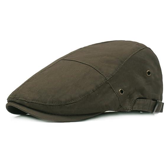Leisial Boinas para Hombre Mujer Casual Sombreros de Verano Gorras de  Algodón Retro Deportes Sombrero para el Sol 01c3270e578