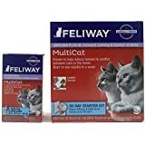 Feliway MultiCat Pheremone Diffuser & 2 Refills Cat Calming Product 60 Day Supply Bundle