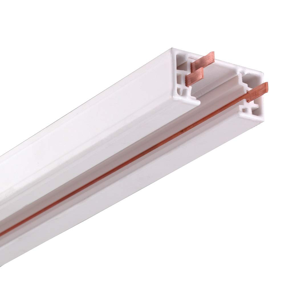 NICOR Lighting 8-Foot Track Rail Section, White (10008WH)