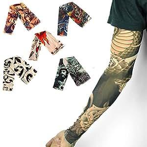 Tr od 1pc brand new man boy fake body temporary tattoo for Tattoo sleeves amazon