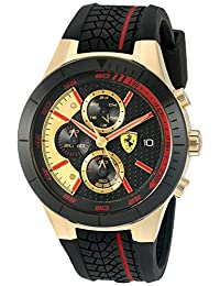 Ferrari Men's 0830298 RED REV EVO CHRONO Analog Display Quartz Black Watch