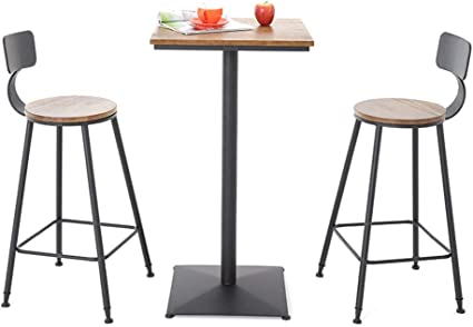 3 Piece Pub Table Set Dining Table Set Counter Height Dining Table Set With 2 Bar Stools For Kitchen Breakfast Nook Dining Room Living Room Small Space Amazon Co Uk Kitchen Home