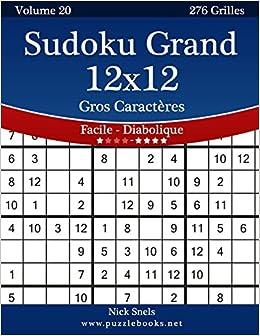 Sudoku Grand 12x12 Gros Caracteres Facile A Diabolique