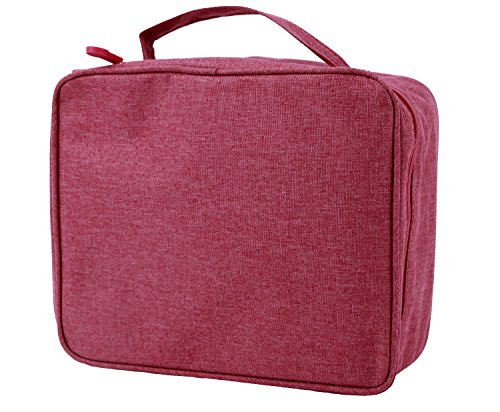 purifyou Classic Insulated Lunch Box - Compact, Easy Wash, Smooth Zipper & Lightweight - Tote Bag & Container, Lunch Bag for Men, Women, Adults (Ladies, Red) ()