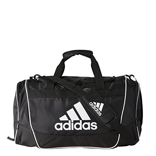 Soccer Gym Bag - adidas Defender II Duffel Bag (Medium), Black, 13 x 24 x 12-Inch