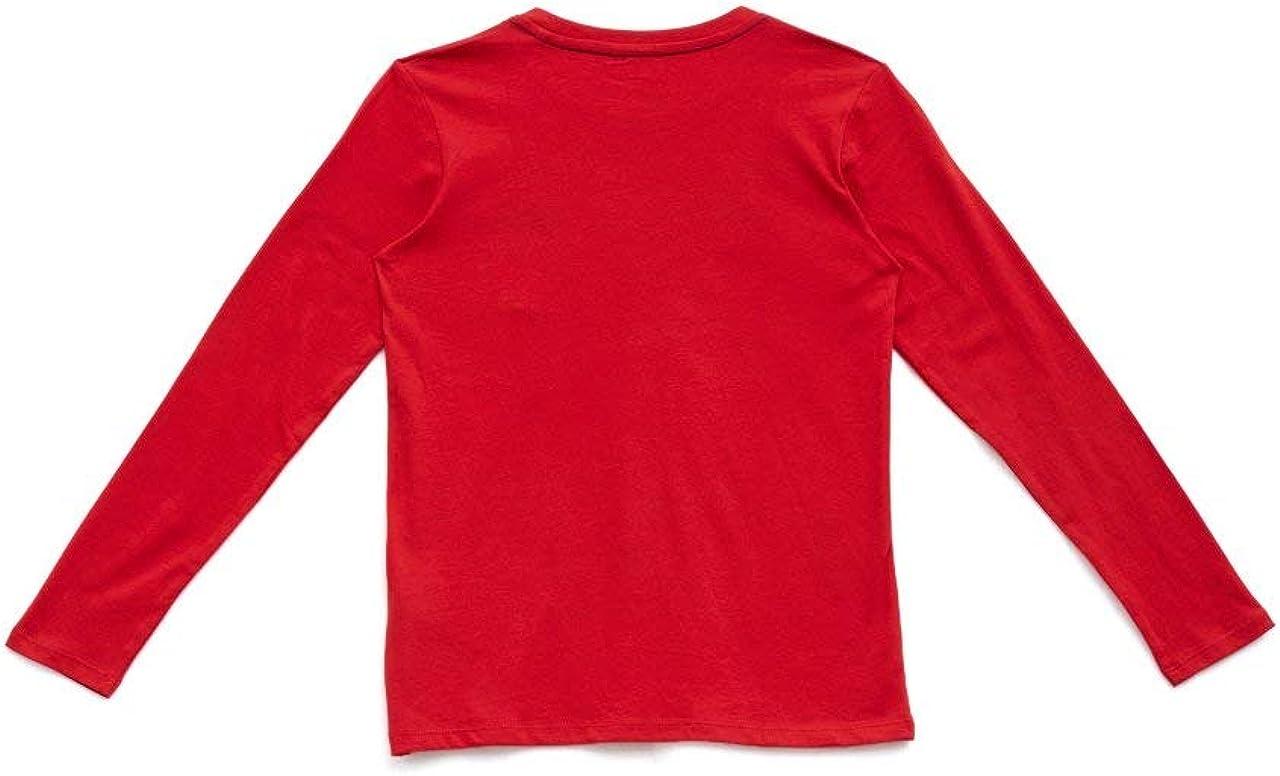 Guess T Shirt a Manica Lunga Bambino Rossa