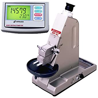 Atago 1310 DR-A1 Abbe Refractometer, Refractive Index 1.3000 to 1.7100nD, Brix 0.0% to 95.0%