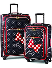 Disney Softside Luggage with Spinner Wheels, Minnie Mouse Red Bow, 2-Piece Set (21/28)