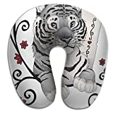 Ministoeb Creative U Shaped Neck Pillow Poker Ace Of Hearts Tigers Design Comfortable Soft Neck Support Pattern Pillow For Rest,Travel,Car,Airplane,Bed,Sofa