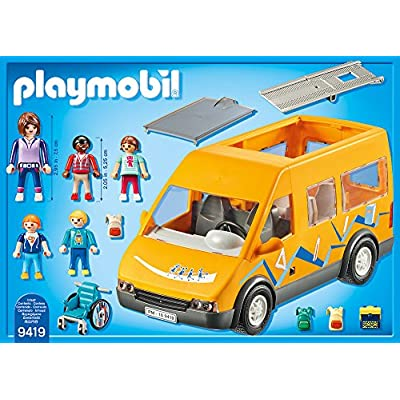 PLAYMOBIL City Life 9419 School Van for Children Ages 4+: Toys & Games