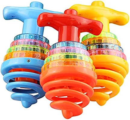 Catkoo Giroscopio LED Peg Top Spinning Peg Top con Música para ...
