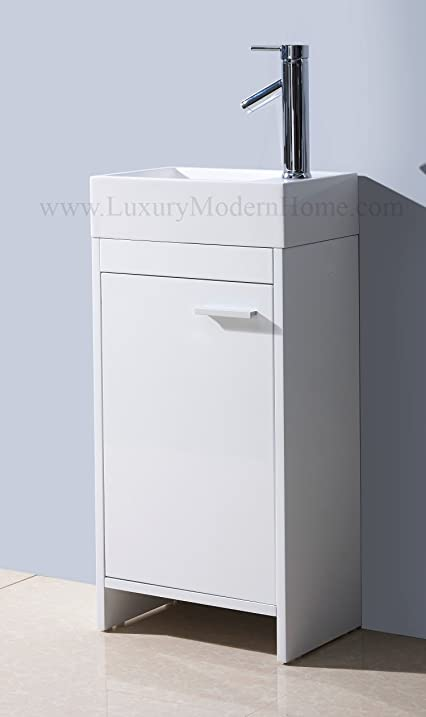 Genial Vs ALEXIUS 2   16u0026quot; X 10u0026quot; Inch Small Freestanding Vanity Sink    Bathroom