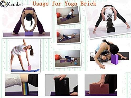 Kemket Yoga Block ladrillo Espuma Bloque de Espuma para el ...