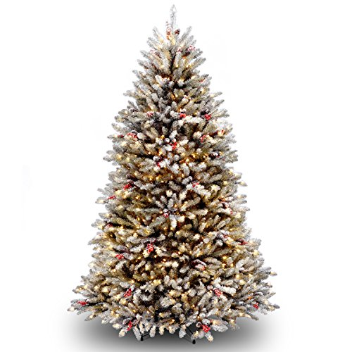 National Tree 6.5 Foot Dunhill Fir Tree with 650 Clear Lights (Tree Dunhill Pine)