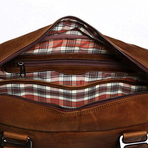 Solo Pelle Messenger Tasche / Umhängetasche aus echtem Leder Model: Valencia (Oreo Braun) Oreo Braun