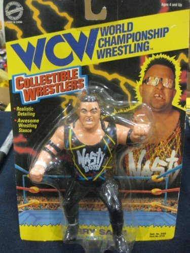 WCW World Championship Wrestling  Jerry Sags of the Nasty Boys Action Figure by The Original San Francisco Toymakers