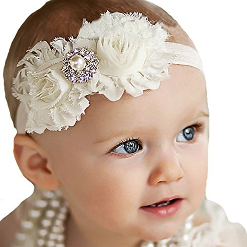 - Miugle Baby Girl Shabby Chic Headbands with Bows