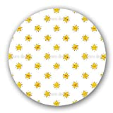 Uneekee Funny Cartoon Stars Lazy Susan: Large, pure birch wooden Turntable Kitchen Storage