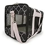 Sherpa Original Deluxe Pet Carrier Black/Pink, Medium, Black/Pink