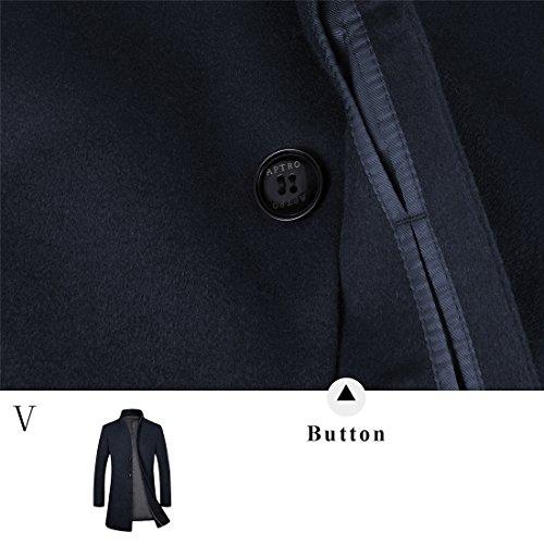 Aptro Manteau Foncé Long Bleu Pour 1681 Homme qZWfwq8U