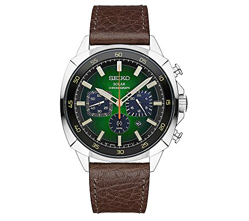 Seiko-Mens-Recraft-Solar-Chronograph-with-Brown-Leather-Strap-and-Green-Dial
