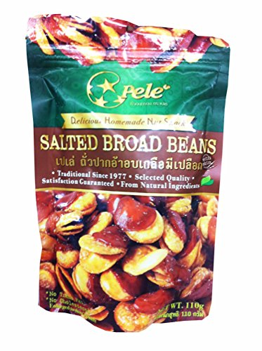 [3 Packs of Salted Broad Beans, Deliicious Homemade Nut Snack From Pele Brand, Selected Quality From Natural Ingredients. (No Trans Fat, No Cholesterol) (110g/ Pack)] (Homemade Hot Sauce Costume)