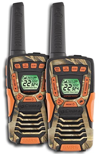(2) COBRA CXT1045R-FLT-CAMO 37 Mi Waterproof Floating 2Way Radios Walkie Talkies