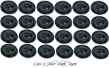 Wholesale Lot 24 Three Hole Black Bases For 4''x6'' Stick Desk Flags