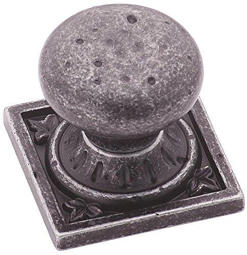 Amerock BP4484WID Ambrosia Euro Stone Knob, Wrought Iron Dark (Prices Wrought Iron)