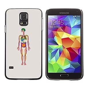 TopCaseStore / la caja del caucho duro de la cubierta de protección de la piel - Human Skeleton Biology - Samsung Galaxy S5 SM-G900