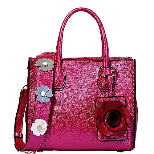 Lucky Star femmes élégantes sac glamour large épaule fleur rose doux sac à main simple Lady Messenger Bag, et D