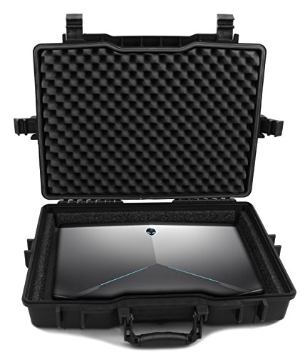 CASEMATIX 17.3'' Laptop Hard Case for Dell Alienware Laptop and Accessories Fits Alienware Area 51M AW17R4, Alienware AW15R3 and More Laptops Up to 18 Inches with Custom Foam Waterproof AIRTIGHT by CASEMATIX (Image #1)