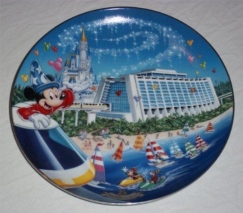 Disney Walt Plate World (Bradford Exchange Walt Disney World 25th Anniversary Next Stop Contemporary Resort Plate)