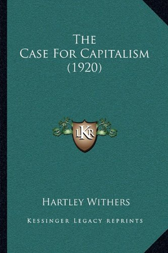 Download The Case For Capitalism (1920) PDF