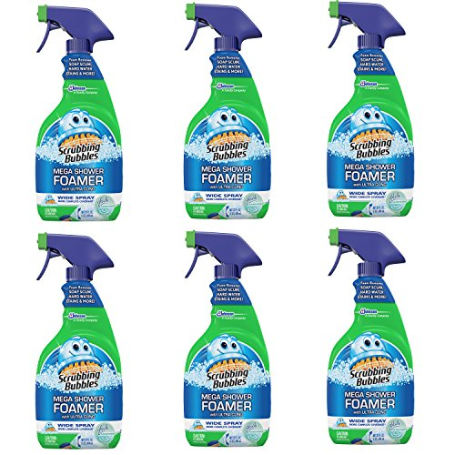 Scrubbing Bubbles Mega Shower Foamer With Ultra Cling Trigger, Pack of 6, 32 Ounce