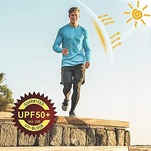 Willit Men's UPF 50+ Sun Protection Hoodie Shirt Long Sleeve SPF Fishing Outdoor UV Shirt Hiking Lightweight Gray L