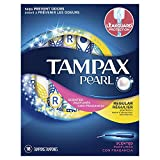 Tampax Pearl Plastic Fresh Scent Tampons, Regular Absorbency, 18 Count (Pack of 12)