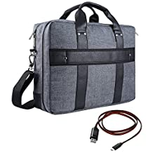 """Vangoddy Chrono 17.3 Inch Compact 2-in-1 Crossbody Carrying Bag Tote (Grey) for Lenovo IdeaPad Y700 