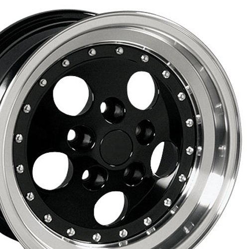 15x8 Wheel Fits Jeep Wrangler, Cherokee - Jeep Wrangler Style Black Rim, Hollander 9007