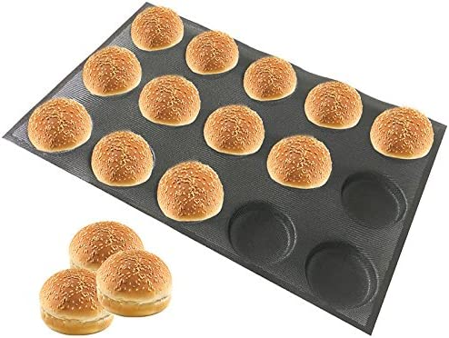 Bluedrop Silicone Baking Molds Perforated Bread Forms Round Shapes 6 Caves