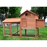 Pawhut Deluxe Backyard Chicken Coop / Hen House w/ Outdoor Run