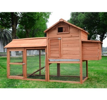 Pawhut Deluxe Backyard Chicken Coop / Hen House w/ Outdoor Run (Large Chicken Coop Kit compare prices)