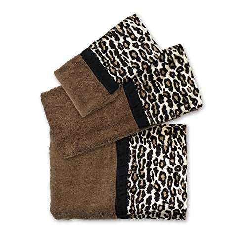 Cheetah Bath - Popular Bath Bath Towels, Jezella Collection, 3-Piece Set, Animal Print