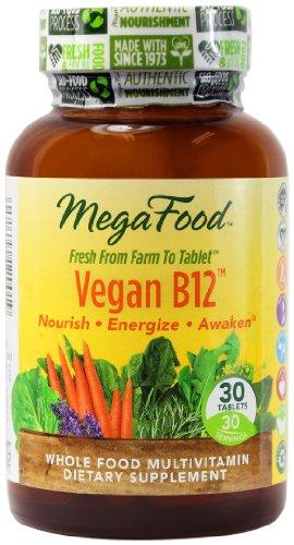 MegaFood Vegan B12 таблетки, 30 граф (Premium упаковка)