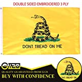 G128 - 3x5 ft Double Sided Embroidered Flag with Brass Grommets