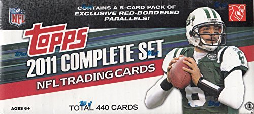 Topps Red Football (2011 Topps Football Factory Sealed Hobby Version Set with Cam Newton and JJ Watt Rookies plus Exclusive Red Parallels)
