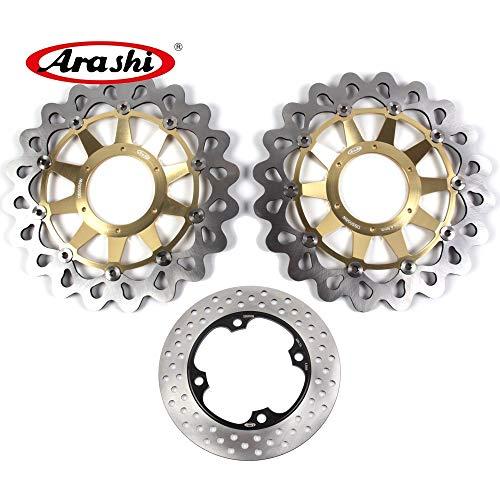 (Arashi Front Rear Brake Disc Rotors for HONDA CBR1000RR 2008-2015 Motorcycle Replacement Accessories CBR 1000 RR CBR1000 1000RR 2009 2010 2011 2012 2013 2014 SP 14-15)